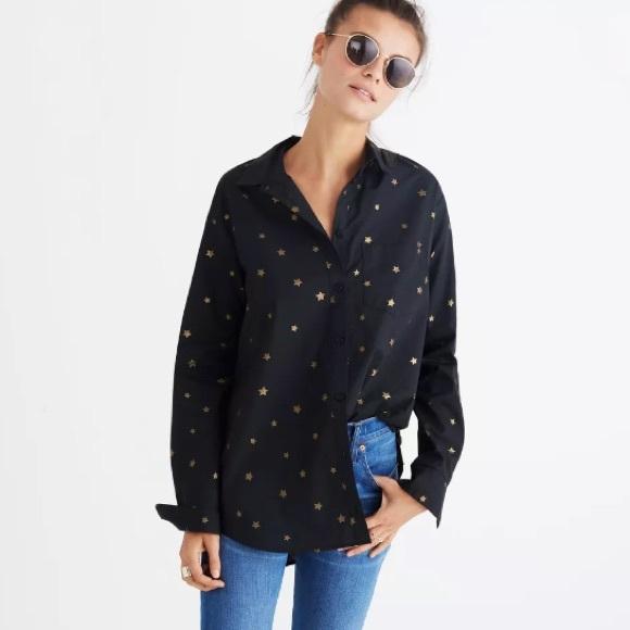 c6d060b69f8 Madewell Tops - Madewell Oversized Ex Boyfriend Shirt - Star Print